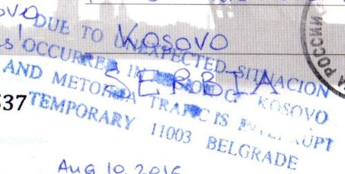 Kosovo card returned