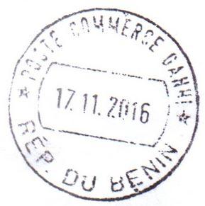 Benin postmark