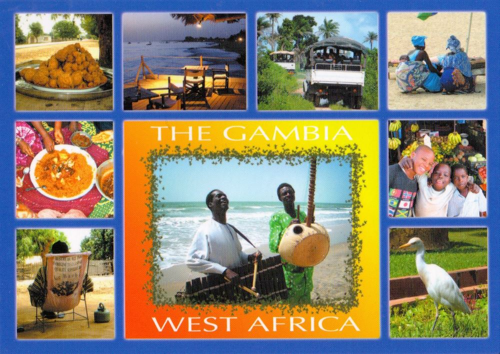 Gambia postcard
