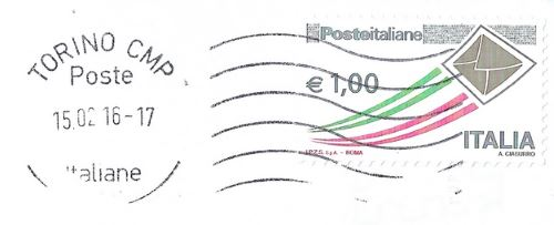 Italy Turin stamp postmark