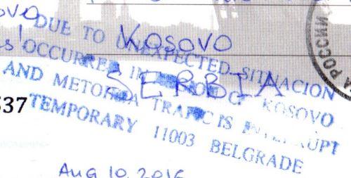 Kosovo card returned