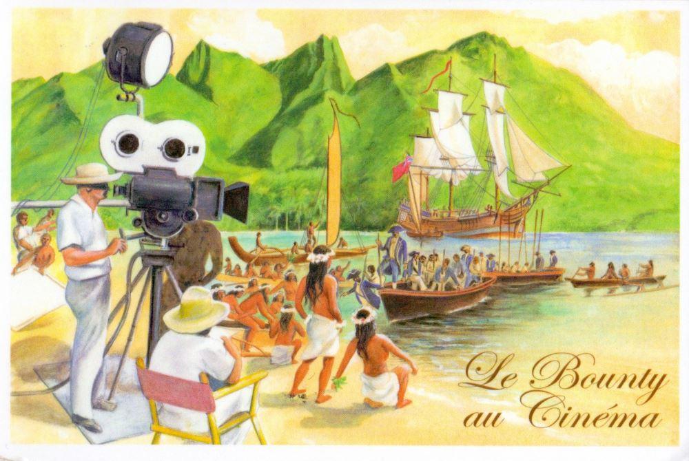 French Polynesia postcard