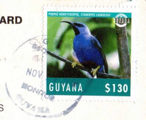 Guyana stamp postmark