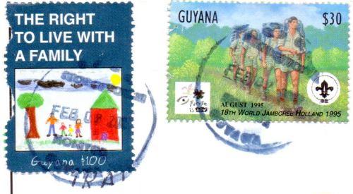 Guyana stamps postmark