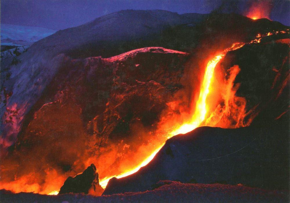 Iceland volcano postcard