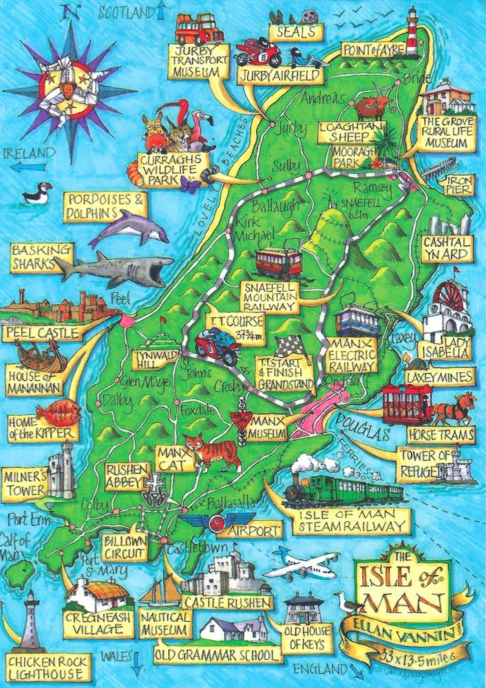 Ile Of Man postcard