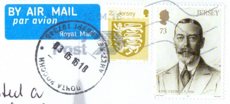 Jersey postmark stamps